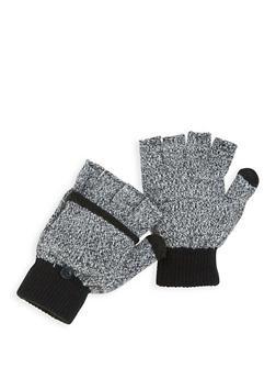 Fingerless Flip Mittens - WHITE - 3121067442809