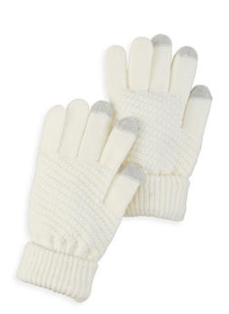 Touch Screen Knit Gloves - IVORY - 3121067442810