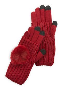 Pom Pom Convertible Gloves - 3121067442814