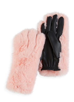 Faux Fur Gloves - 3121067442816