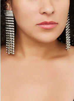 Rhinestone Chandelier Earrings - 3122029364900