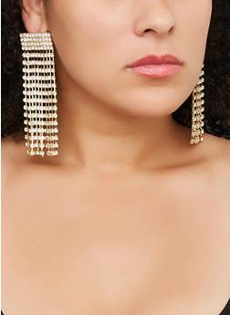 Rhinestone Chandelier Earrings - 3122029364900