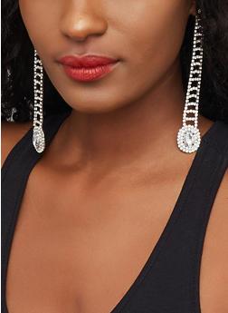 Rhinestone Linear Earrings - 3122029364905