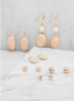 Assorted Stud and Drop Earrings Set - 3122035159148