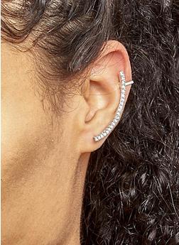 Metallic Rhinestone Ear Cuffs - 3122057690607