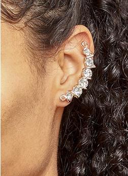 Rhinestone Ear Cuffs - 3122057694641