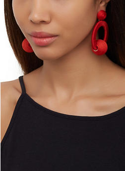 Thread Wrapped Earrings - 3122062810102