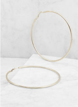 Large Hoop Earrings - 3122062815336