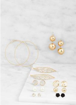 Set of 9 Assorted Earrings - 3122062817557