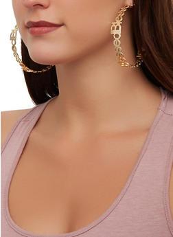 Blessed Metallic Hoop Earrings - 3122062920900