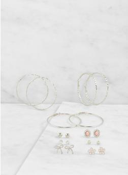 Assorted Hoop and Stud Earrings Set - 3122062923602