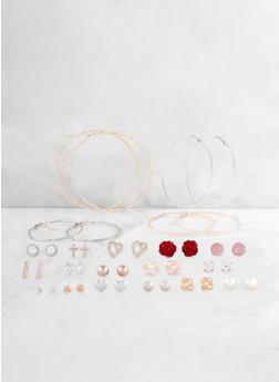 Metallic Hoop and Stud Earrings Set | 3122062924801 - 3122062924801
