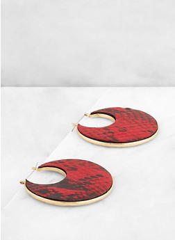 Animal Print Metallic Earrings - 3122062925193