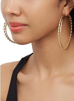 Set of 6 Assorted Hoop Earrings - 3122062926049