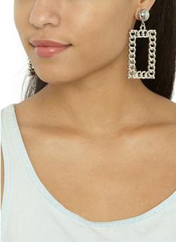 Rectangular Chain Earrings - 3122062926426