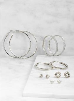 Assorted Hoop and Stud Earrings Set - 3122062926490
