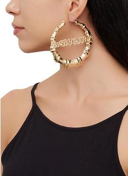 Baby Girl Metallic Bamboo Hoop Earrings - 3122062927025