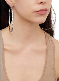Oversized Metallic Hoop Earring Trio | 3122062927164 - 3122062927164