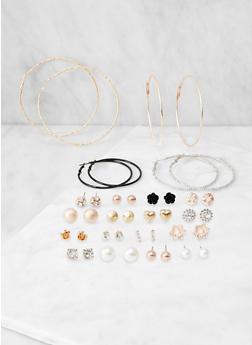 20 Assorted Stud and Hoop Earrings - 3122062927281