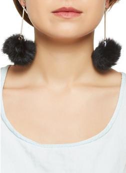 Pom Pom Stick Earrings - 3122067252415