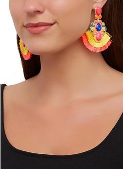 Jeweled Fringe Earrings - 3122071210158