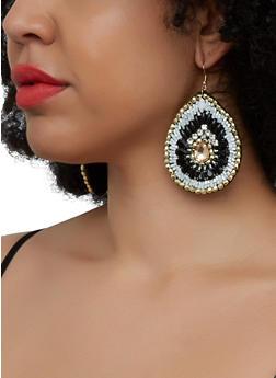 Beaded Teardrop Earrings - 3122071218116