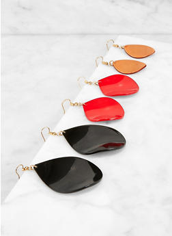 Plastic Tear Drop Earrings - 3122071432013