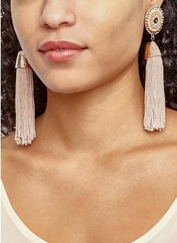 Tassel Disc Earrings - 3122071432027