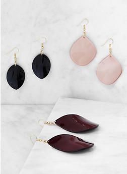 Set of 3 Tear Drop Earrings - 3122071432110
