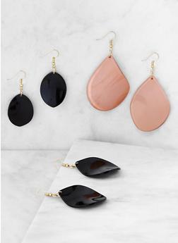 Set of 3 Tear Drop Earrings - 3122071432110