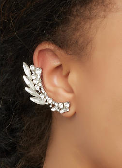 Rhinestone Double Ear Cuff - 3122071432570