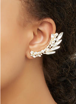 Rhinestone Double Ear Cuff - 3122071432570