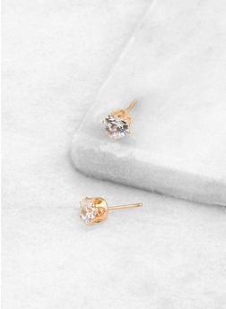 Heart 6mm Cubic Zirconia Earrings - 3122071434514