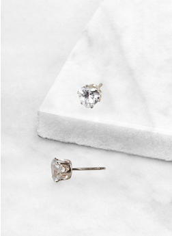 Heart 6 MM Cubic Zirconia Earrings - 3122071434587