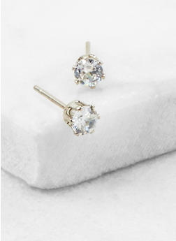 Cubic Zirconia Stud Earrings - 3122071434742
