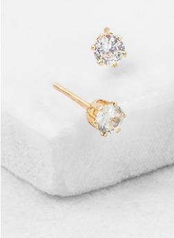 Cubic Zirconia Stud Earrings - 3122071434742