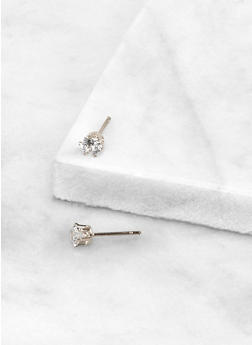 Round 4 MM Cubic Zirconia Earrings | 3122071435444 - 3122071435444