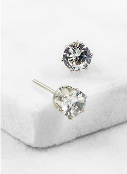 Cubic Zirconia Stud Earrings - 3122071436412