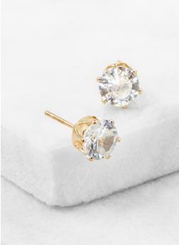 Cubic Zirconia Stud Earrings - 3122071436412