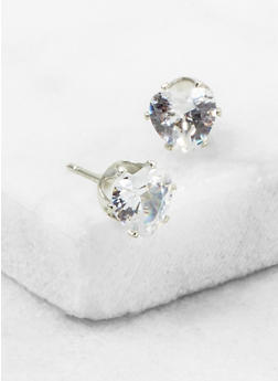 Mini Heart Cubic Zirconia Stud Earrings - 3122071438103