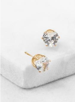 Mini Heart Cubic Zirconia Stud Earrings - 3122071438103