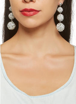 Druzy Disco Ball Drop Earrings - 3122072420920
