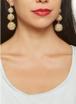 Druzy Disco Ball Drop Earrings - 3122072420920