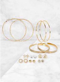 Assorted Hoop and Stud Earrings | 3122072691483 - 3122072691483