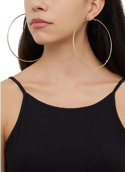 Oversized 4 Hoop Earrings Set - 3122072691502