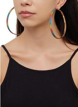4 Oversized Hoop Earrings - 3122072691503