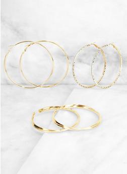 Metallic Hoop Earring Trio | 3122072692407 - 3122072692407