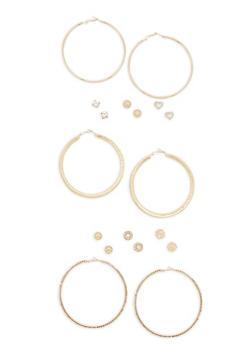 Assorted Hoop and Stud Earrings Set | 3122072698252 - 3122072698252