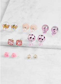 Double Sided Stud Earrings - 3122072699572