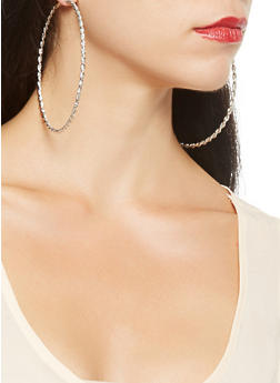 Oversized Hoop Earring Trio - 3122072699727